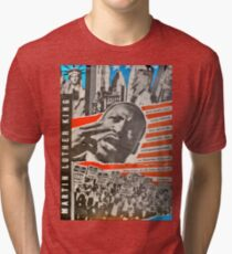 Martin Luther King - East German Poster 1980`s Tri-blend T-Shirt
