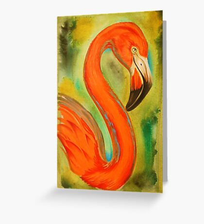 pink flamingo, large version Greeting Card