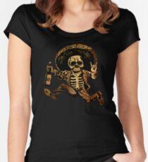 Camiseta entallada de cuello redondo Posada Día de los muertos fuera de la ley