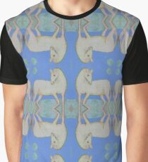 Horse and Moon Reflected Graphic T-Shirt