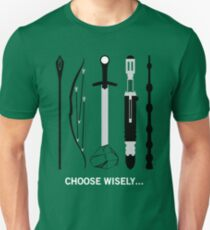 Choose Wisely! (White Text) Unisex T-Shirt