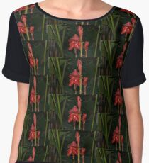 Red Torch Ginger Lily - Glossy, Exotic and Wonderful Women's Chiffon Top