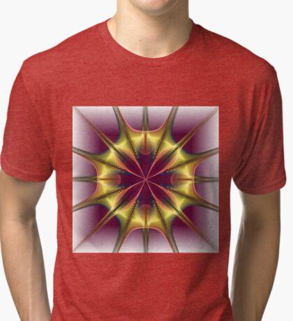 Flower Stretch Tri-blend T-Shirt