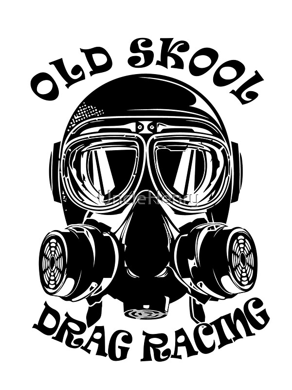 Quot Old Skool Drag Racing Design Quot Stickers By Unclehenry