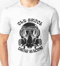 Camiseta ajustada Old Skool Drag Racing Design