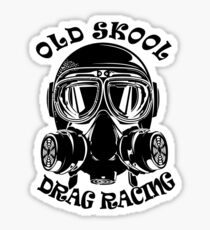 Old Skool Drag Racing Design Sticker