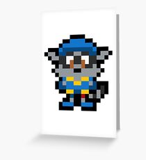 Pixel Sly Cooper Greeting Card