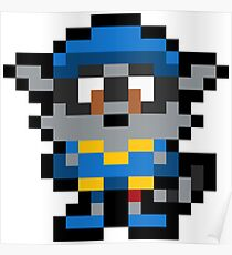 Pixel Sly Cooper Poster