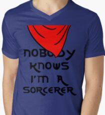 Nobody knows I'm a sorcerer - 1 Men's V-Neck T-Shirt