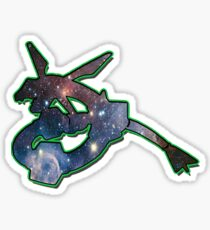 Rayquaza Space Design T-shirt and other products Sticker