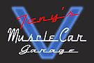 Tony's Muscle Car Garage by thatstickerguy