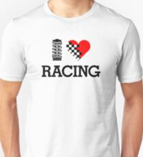 I Love RACING (1) Unisex T-Shirt