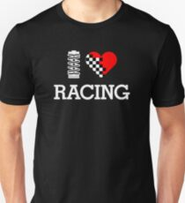 I Love RACING (2) Unisex T-Shirt