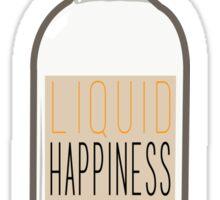 Liquid Happiness in a Bottle Vodka Bottle - Flat Sticker