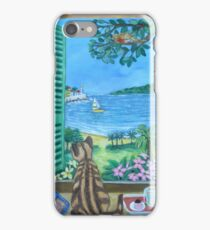 Looking out over the mediterranean. iPhone Case/Skin