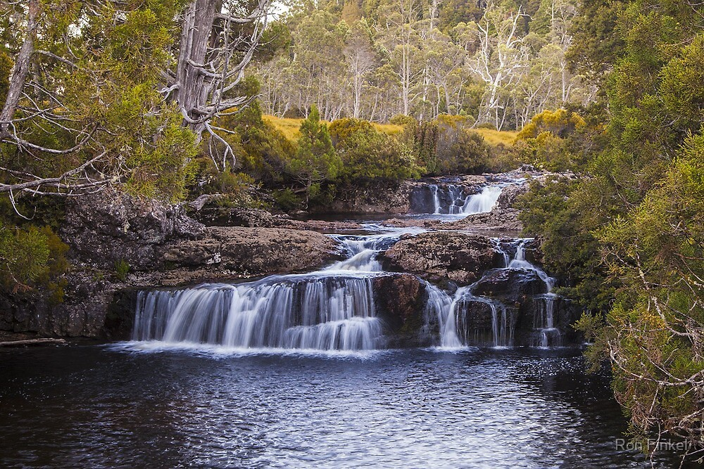 Enchanted Falls - Tasmania by Ron Finkel
