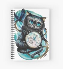 Alice Through The Looking Glass Spiral Notebook