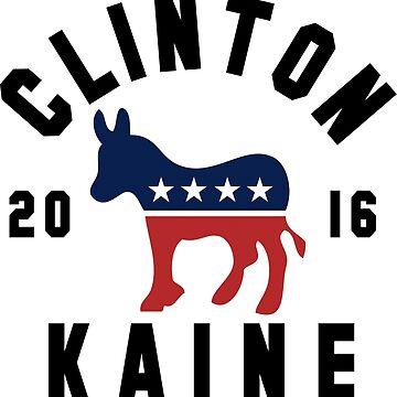 Clinton Kaine 2016 Shirt - Hillary Clinton Tim Kaine Democrat 16 Women's Shirt by hillary16shirt