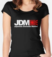 Japanese Domestic Market JDM (3) Women's Fitted Scoop T-Shirt