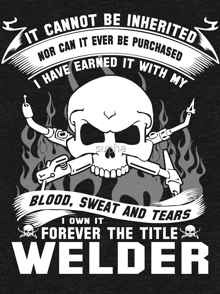 Awesome Funny T Shirt Design Fire For Welder And More Tri Blend