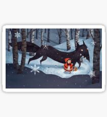 Little Red Riding Hood and the Wolf Sticker