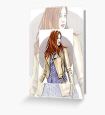 Karen Gillan miniature KG1 Greeting Card