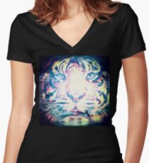 Tiger_8585 Women's Fitted V-Neck T-Shirt
