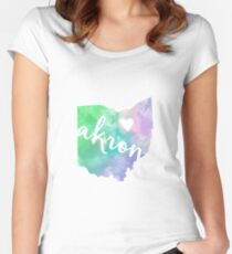 Akron Women's Fitted Scoop T-Shirt