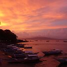 Sunset over Puerto Galera, Philippines by sailgirl