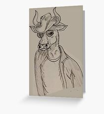 The Cow Boy Greeting Card