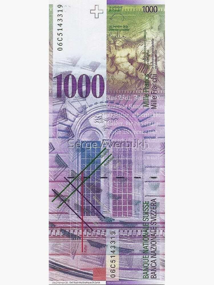 1000 Swiss Franc Bill by Captain7