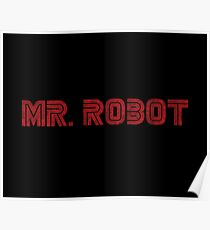 Mr. Robot (Grunge) – Prints & Posters Poster