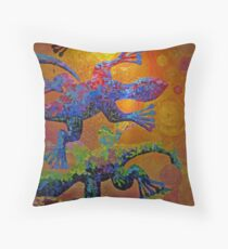 Gecko Mosaic Throw Pillow