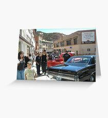 Classic Car Show in Bisbee Greeting Card