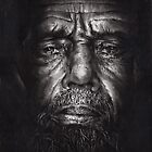 Philip - Drawing - Compressed Charcoal On Paper by Paul Davenport
