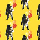 Spaceman with Balloons. by jackfords