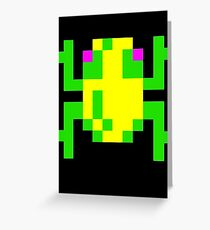 Frogger  Classic Arcade Game 80s Greeting Card