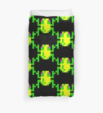 Frogger  Classic Arcade Game 80s Duvet Cover