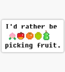 I'd Rather Be Picking Fruit- Animal Crossing Inspired Sticker