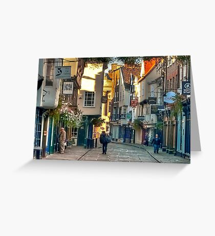 Stonegate - York,England,UK Greeting Card