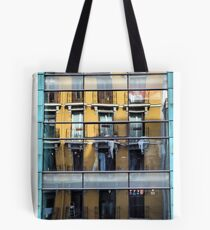 Reflections upon Palacio de Deportes, Madrid. Tote Bag