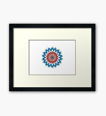 Shark Art Mandala Framed Print