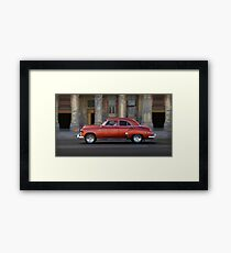 Old American car in La Habana, Cuba Framed Print