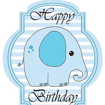 happy birthday Elephant by MMEIRI1