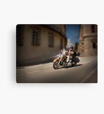 Harley Davidson rider in Malaga Canvas Print