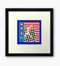 Hell's Angels, bomb and flag Framed Print