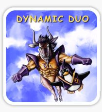 GNU & TUX Dynamic Duo Sticker