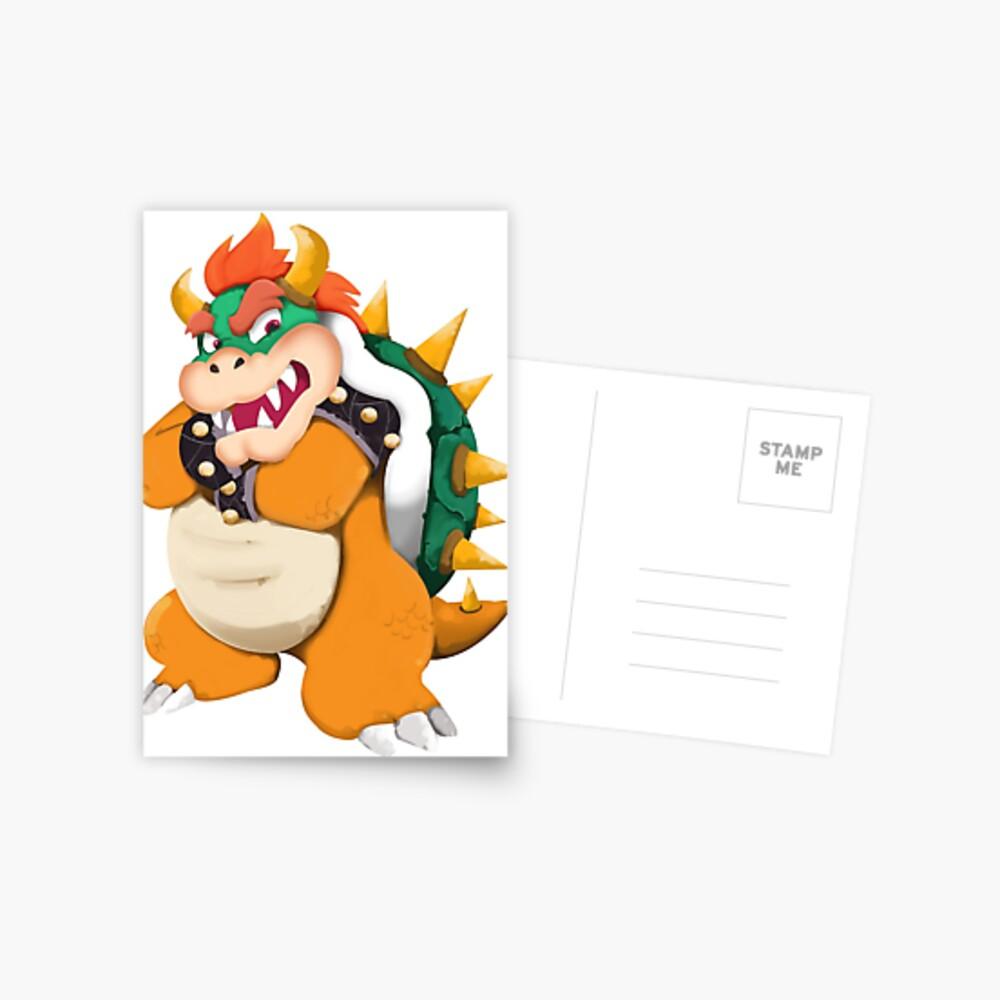 Bowser König Koopa Postkarte