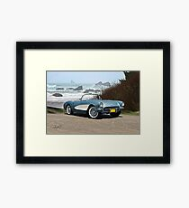 1956 Chevrolet Corvette Convertible 'Pacific Coast' Framed Print