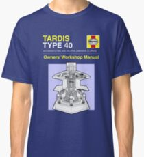 TARDIS - Type 40 - Owners' Manual Classic T-Shirt